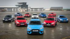 2016 Ford Focus RS group test