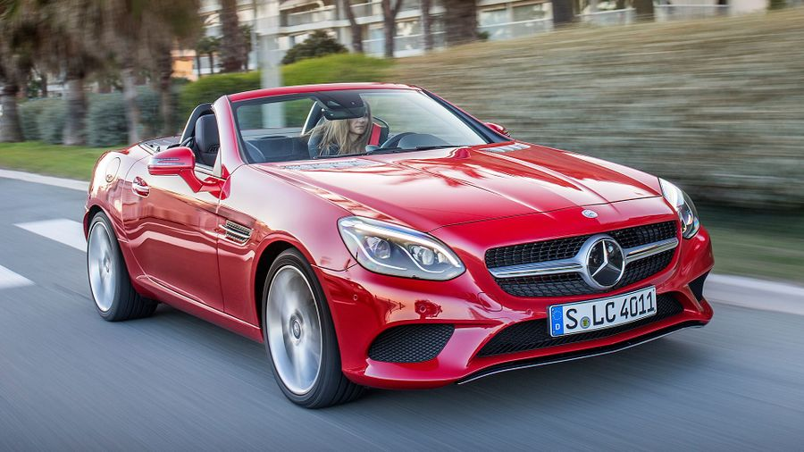 2016 mercedes benz slc 250d first drive review auto for Mercedes benz auto trader