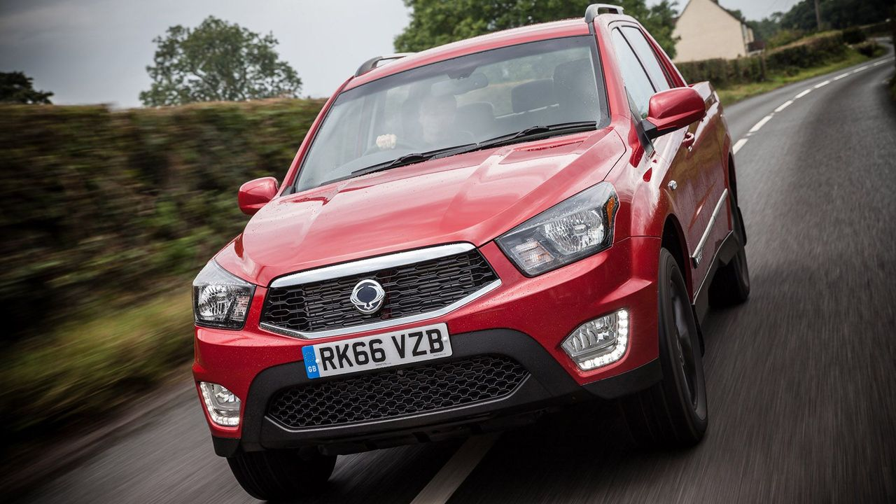 2016 Ssangyong Musso grille