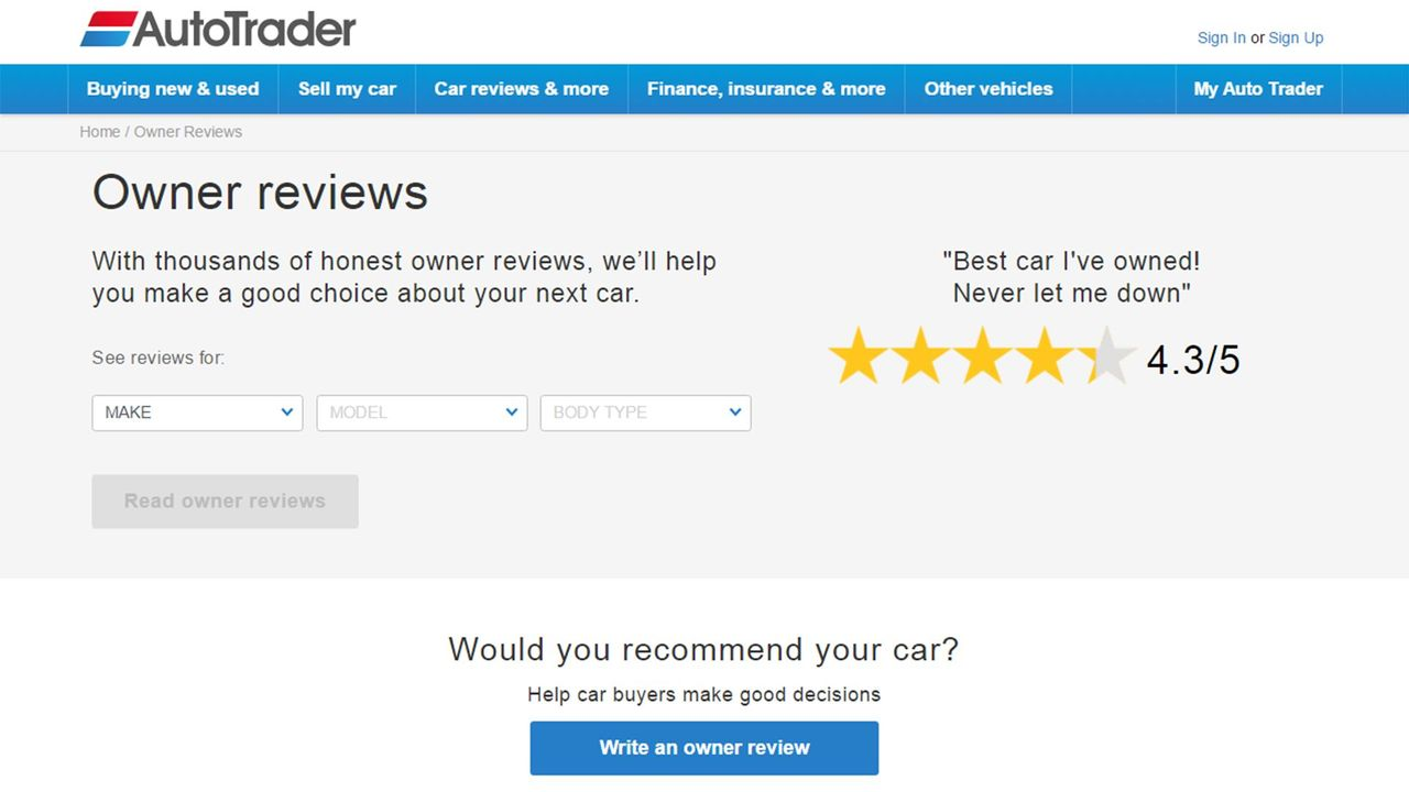 How to use Auto Trader\'s Owner Reviews | Auto Trader UK