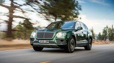 2016 Bentley Bentayga W12 front action shot