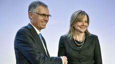 PSA CEO Carlos Tavares and GM CEO Mary Barra
